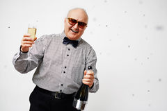 Senior hanging out Royalty Free Stock Photography