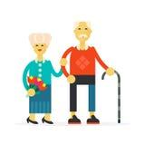 He senior happy couple Stock Photos