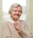 Senior happy woman in her home. Royalty Free Stock Photo