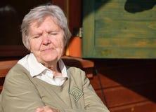 Senior happy woman. Royalty Free Stock Photography