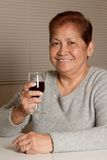 Senior have wine Royalty Free Stock Photo