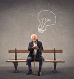 Senior having an idea Stock Image