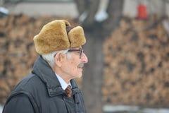 Senior and hearing aid Stock Photos
