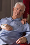 Senior after heart attack Royalty Free Stock Photography