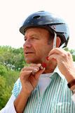Senior helmet Stock Photo