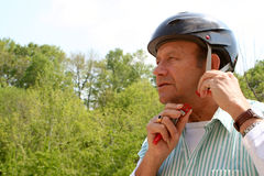 Senior helmet Royalty Free Stock Images