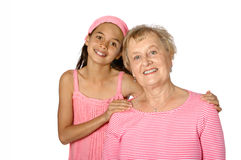 Senior with her grandaughter Royalty Free Stock Photo