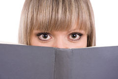 Senior high schoolgirl with book Royalty Free Stock Image