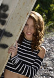 Senior Highschool-Porträt lizenzfreies stockfoto