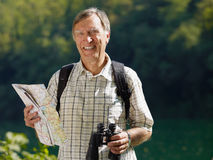 Senior hiker Stock Images