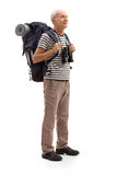 Senior hiker looking in the distance Royalty Free Stock Images