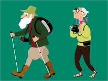 Senior hikers Stock Image