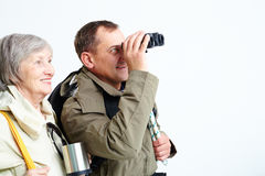 Senior hikers Royalty Free Stock Photography