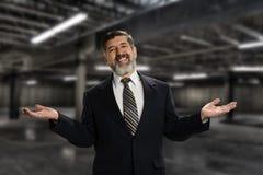 Senior Hispanic Businessman Royalty Free Stock Image