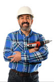 Senior Hispanic Contractor Stock Photo