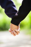 Senior holding hands Royalty Free Stock Image
