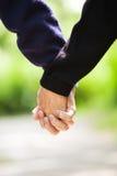 Senior holding hands royalty free stock image