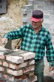 Senior home builder royalty free stock photos