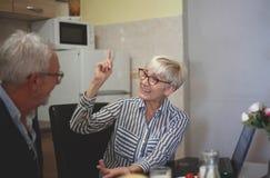 Senior couple dispute royalty free stock photography