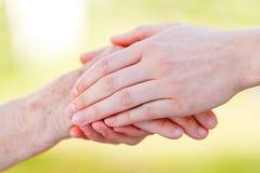 Senior homecare Royalty Free Stock Images