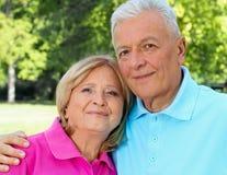 Senior Hugging Royalty Free Stock Photo