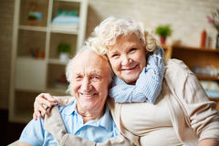 Senior husband and wife Royalty Free Stock Images