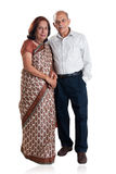 Senior Indian couple. A portrait of a senior Indian couple - isolated on white Stock Image