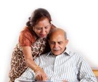 Senior Indian couple Stock Image
