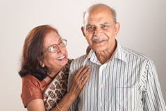 Senior Indian couple. A senior Indian couple sharing a laugh together Royalty Free Stock Image