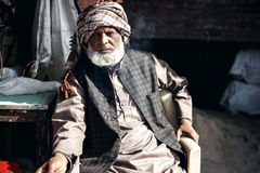 Senior Indian man in Delhi Royalty Free Stock Photo