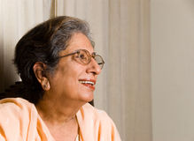 Senior Indian woman Stock Image