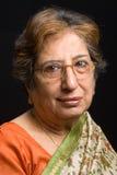 Senior Indian woman wearing a sari Royalty Free Stock Photos