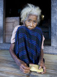 Senior Indonesian woman stock photography