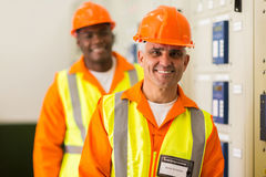 Senior industrial technician Royalty Free Stock Image