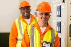 Senior industrial technician royalty free stock image