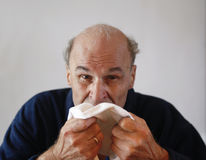 Senior with influenza royalty free stock images