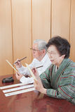 Senior Japanese stock photography
