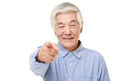 Senior Japanese man decided Royalty Free Stock Images