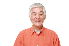 Senior Japanese man smiles Royalty Free Stock Images