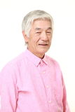Senior Japanese man smiles Stock Photography
