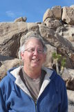 Senior in Joshua Tree National Park California Royalty Free Stock Photo
