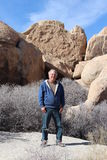 Senior in Joshua Tree National Park Desert Stock Photography