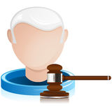 Senior Judge with Justice Gavel Royalty Free Stock Photo