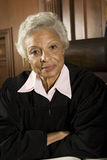 Senior Judge Sitting In The Courtroom Stock Photography