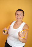 Senior with jumping rope Stock Photography