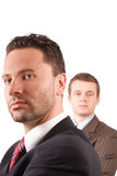 Senior and junior businessmen Royalty Free Stock Photos
