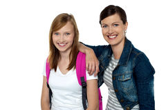 Senior and junior college colleagues Stock Photography