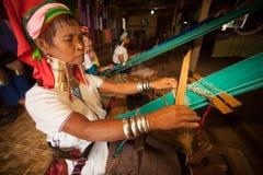 Senior Kayan Lahwi kobieta wyplata Fotografia Stock