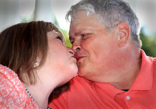 Senior Almost Kiss Royalty Free Stock Photo