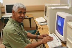 senior komputerowego nauki Obrazy Royalty Free